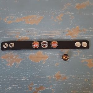 Ginger Snaps Leather Cuff Bracelet